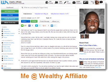 Wealthy Affiliate - Me Profile!