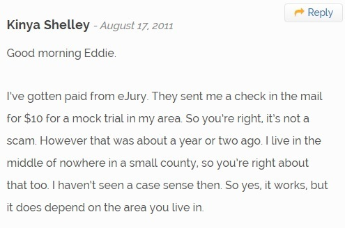 a comment about mock jury duty