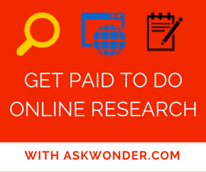 Get Paid To Do Online Research with AskWonder.com