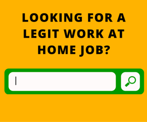 Looking for a work at home job