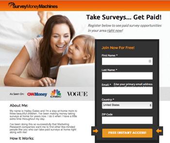 is survey money machine a scam