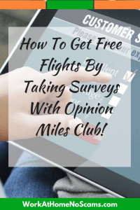 How To Get Free Flights By Taking Surveys With Opinion Miles Club