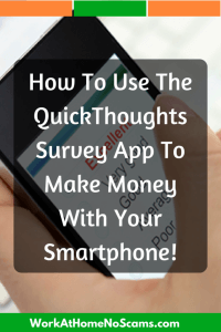 Make Money With The Quick Thoughts Survey App