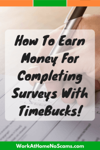 Make Money Taking Surveys With TimeBucks
