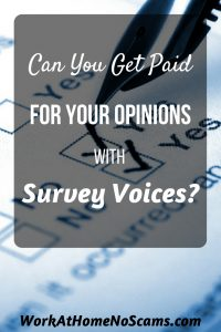 Make Money Giving Your Opinion Using Survey Voices