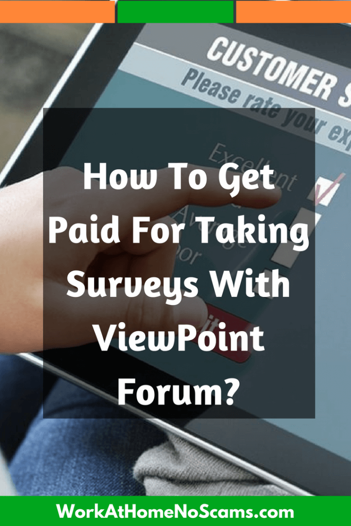 How To Get Paid To Take Surveys With Viewpoint Forum