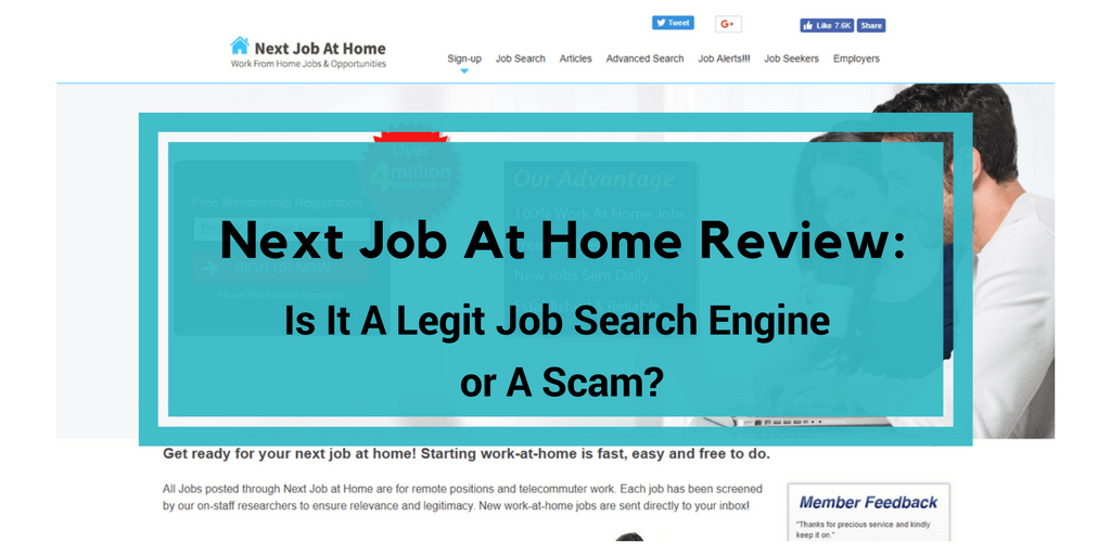 Work from home job search engines