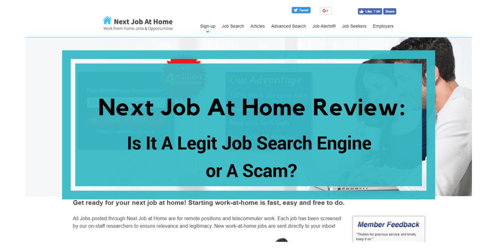 next job at home review